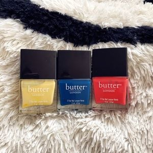 Other - Butter London Nail Polish Set Of 3